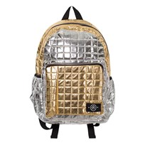 Molo Quilted Backpack Block Silver Gold Block silver gold