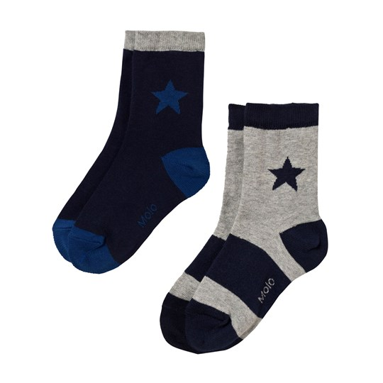 Molo Nitis 2-Pack Socks Casino Blue Casino Blue