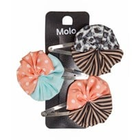 Molo Woven Circle Hair Clips Multi color Multi color