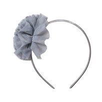 Molo Pom Pom Hair Band Opal Grey Opal Grey