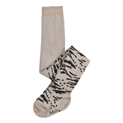 Molo Leo Tiger Tights Opal Grey