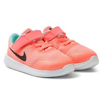 NIKE Pink Free Run Trainers LAVA GLOW/METALLIC SILVER-BLACK