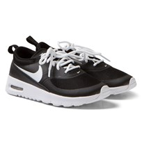 NIKE Black and White Air Max Thea Trainers Sort