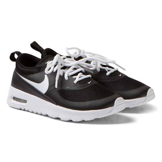 NIKE Black and White Air Max Thea Trainers Black