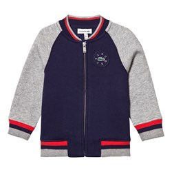 Lacoste Navy and Grey Bomber Jacket