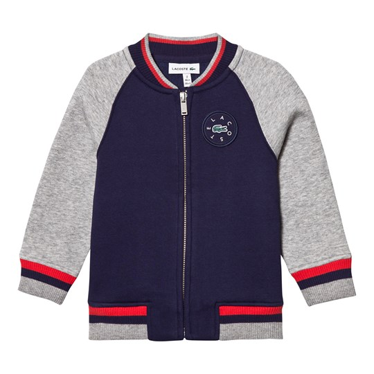Lacoste Navy and Grey Bomber Jacket WUV
