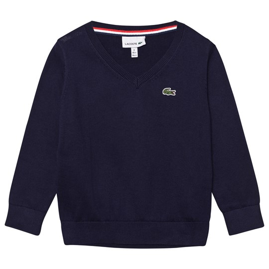 Lacoste Navy V Neck Jumper S8Y