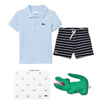 Lacoste Blue Polo, Navy Shorts and Croc Gift Set 5KW