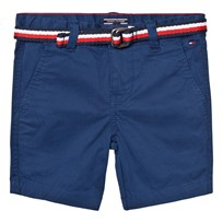 Tommy Hilfiger Blue Classic Belted Chino Shorts 494