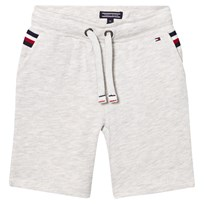 Tommy Hilfiger Grey Sweat Shorts with Flag Detail 023