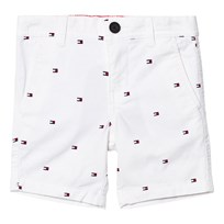 Tommy Hilfiger White All Over Flag Print Shorts 122