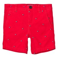 Tommy Hilfiger Red All Over Flag Print Shorts 699