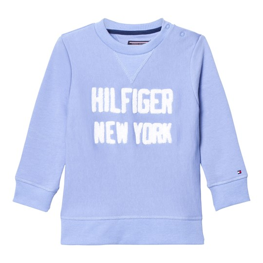 Tommy Hilfiger Blue Branded Applique Sweatshirt 419
