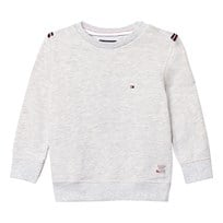 Tommy Hilfiger Grey Branded Sweatshirt with Flag Detail 023