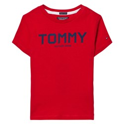 Tommy Hilfiger Red and Navy Branded Tee