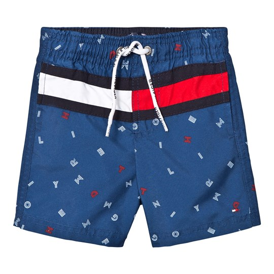 Tommy Hilfiger Blue Flag Print Swim Shorts 494