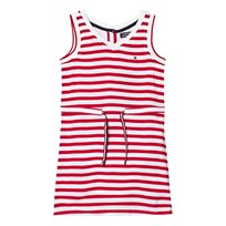 Tommy Hilfiger Red Stripe Jersey Dress with Drawcord Waist 699