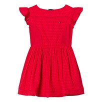 Tommy Hilfiger Red Frill Sleeve Dress 699