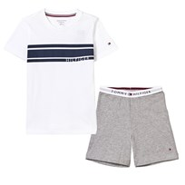Tommy Hilfiger White and Grey Branded Pyjamas 901