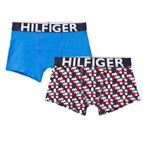 Tommy Hilfiger 2 Pack of Multi and Plain Trunks 901