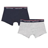 Tommy Hilfiger 2 Pack of Navy and Grey Trunks 901