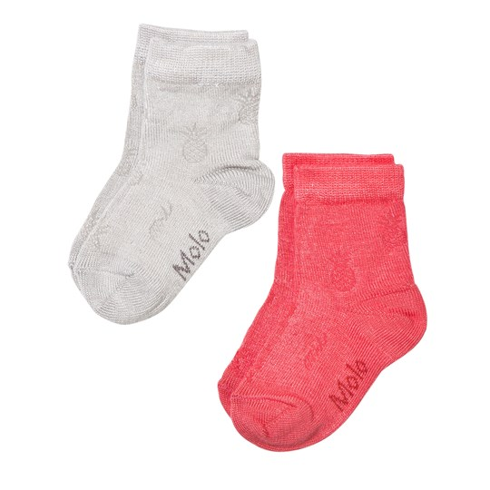 Molo Noemi 2-Pack Socks Spicy Pink Spicy Pink