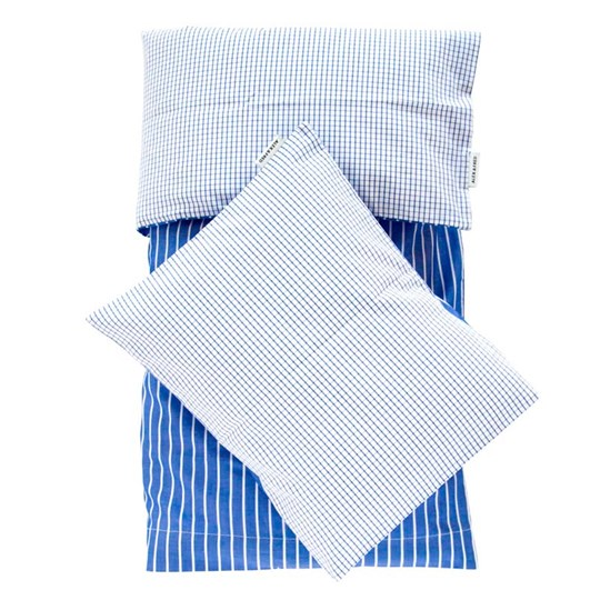 ALEX & FRED Duvet Cover Set Blue M Blue