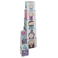 sebra Village Stacking Blocks - 10 Pieces Multi