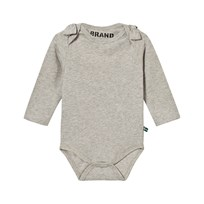The BRAND Bow Onesie Grey Melange Black