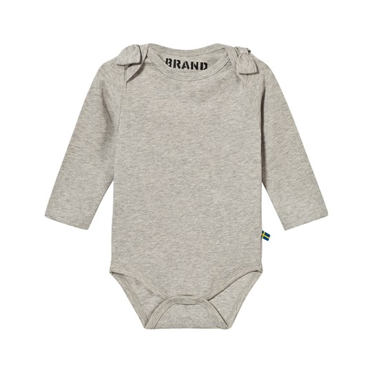 24aa6daab15 The BRAND - Bow Onesie Grey Melange - Babyshop.com