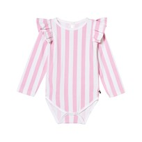 The BRAND Flounce Baby Body Rosa Ränder Pink