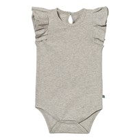 The BRAND Summer Flounce Baby Body Grey Melange Black