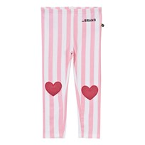 The BRAND Heart Leggings Pink Stripe Pink