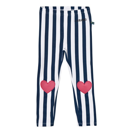 The BRAND Heart Leggings Blue Stripe Blue
