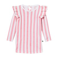 The BRAND Flounce Dress Pink Stripe Pink