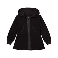 The BRAND Cotton Terry Peplum Hoodie Black Black