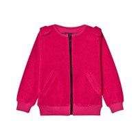 The BRAND Cotton Terry Bow Zip Sweater Pink Pink