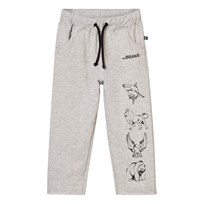The BRAND Animal Sweatpants Grey Melange Black