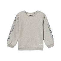 The BRAND Animal Sweater Grey Melange Black