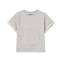 The BRAND Raw Tee Grey Melange Black