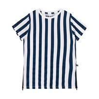The BRAND Long Tee Dress Blue Stripe Blue