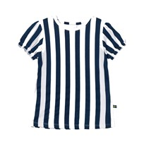 The BRAND Girly Tee Blue Stripe Blue