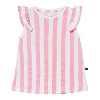 The BRAND Suede Top Pink Stripe Pink