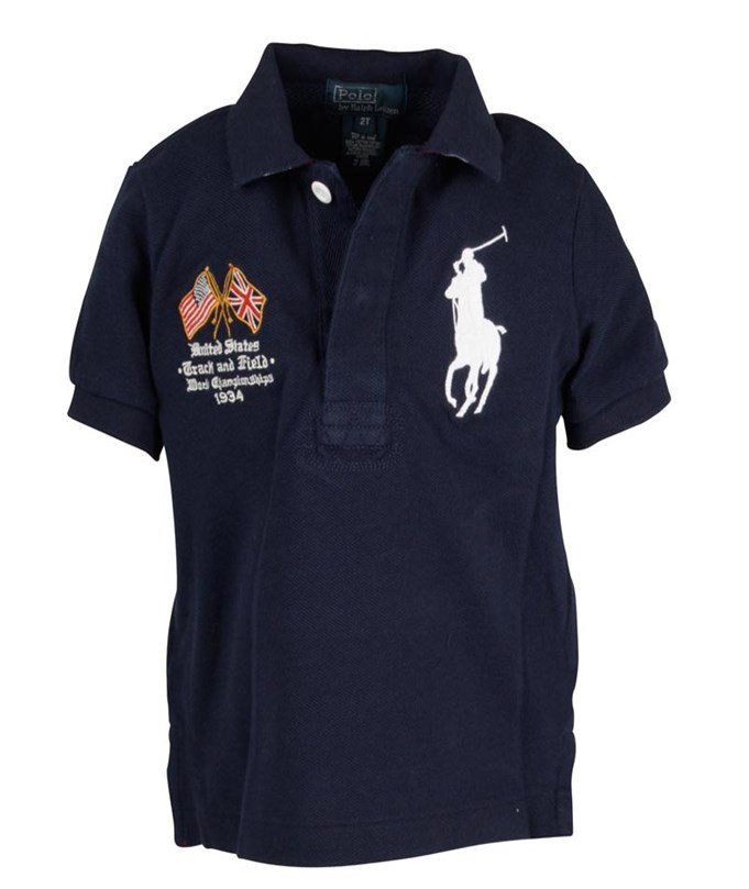 Ralph Lauren SS USA Navy Polo French Navy Blue