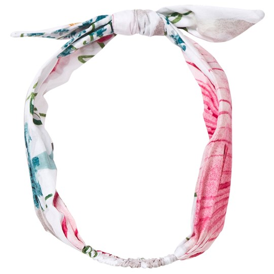 Catimini Multi Floral Print Bow Headband 01