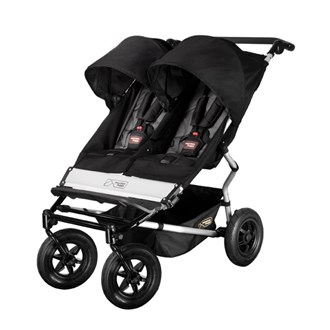 Duet Double Buggy Black/Flint, Mountain Buggy