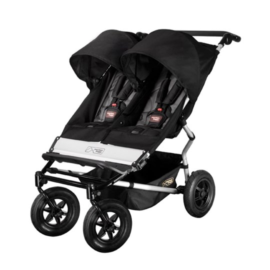 Mountain Buggy Duet Double Buggy Black/Flint Multi