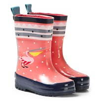 Catimini Pink Multi Pelican Print Wellies 01