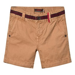 Catimini Stripe Waist Detail Shorts Tan