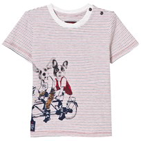 Catimini Multi Stripe and Dog Print Tee 37